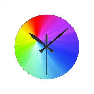 Relógio Redondo Design do espectro do arco-íris