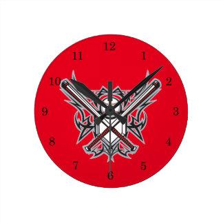 Relógio Redondo Design do fã de basebol