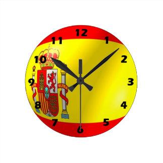 Relógio Redondo Design espanhol da bandeira