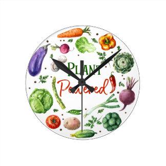 Relógio Redondo Design Planta-Psto