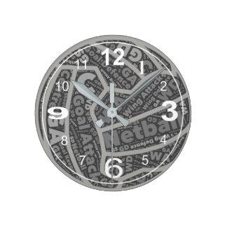 Relógio Redondo Design temático da bola das posições do Netball