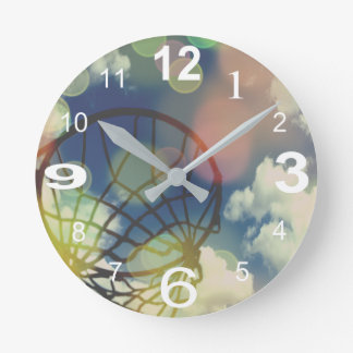 Relógio Redondo Design temático do impressão da imagem do Netball