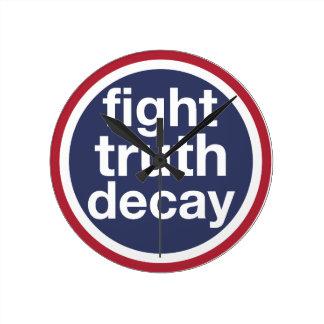 Relógio Redondo Deterioração da verdade da luta