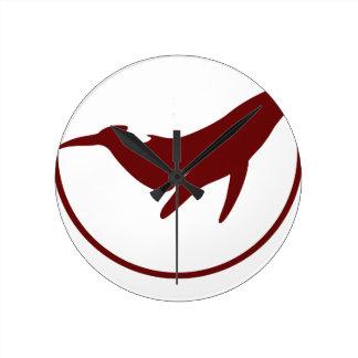 Relógio Redondo Dia da baleia do mundo - dia da apreciação