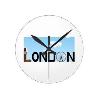 Relógio Redondo Dia da skyline de Londres