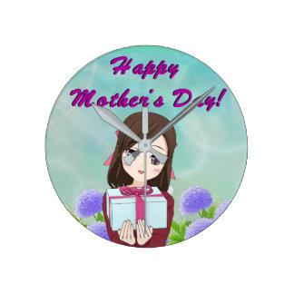 Relógio Redondo Dia das mães atual
