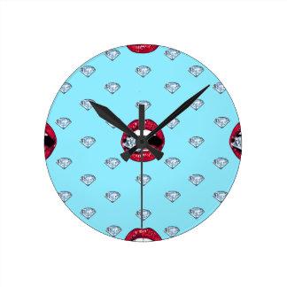 Relógio Redondo Diamante chique dos lábios feminino