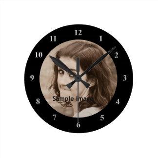 Relógio Redondo DIY criam sua própria foto personalizada   do
