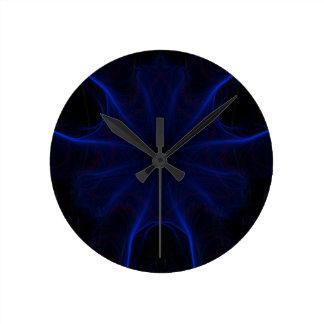 Relógio Redondo DK. Laser azul