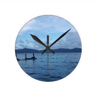 Relógio Redondo Doca do barco da ilha