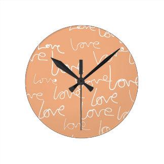 Relógio Redondo doodles do amor