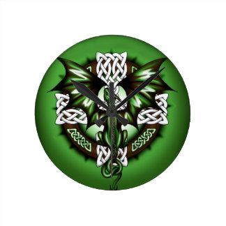 Relógio Redondo dragão celta