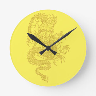 Relógio Redondo Dragão chinês