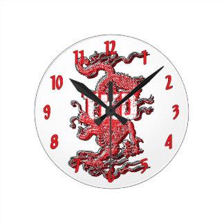 Relógio Redondo Dragão de Taekwondo