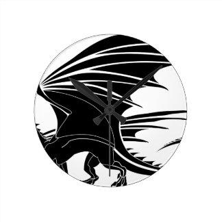 Relógio Redondo Dragão irritado