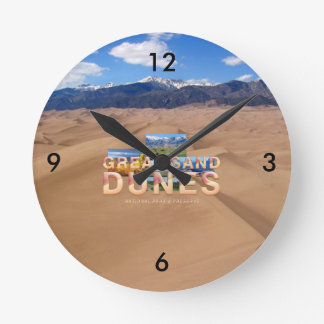 Relógio Redondo Dunas de areia de ABH grandes