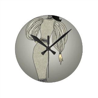 Relógio Redondo Duquesa de prata