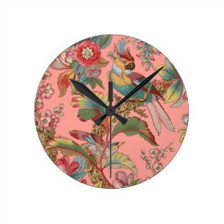 Relógio Redondo Duquesa do ~ do papagaio de Edwardian