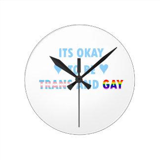 Relógio Redondo É aprovado ser o transporte e o gay (v2)