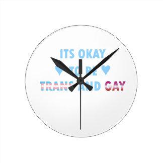 Relógio Redondo É aprovado ser o transporte e o gay (v3)