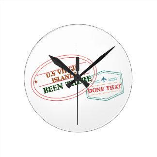 Relógio Redondo E.U. Virgin Islands feito lá isso