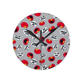 Relógio Redondo Elmo   Aw yeah, teste padrão impressionante