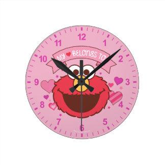 Relógio Redondo Elmo | meu coração pertence a Elmo