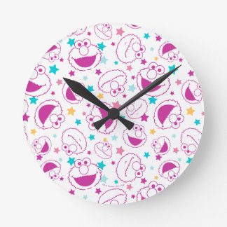 Relógio Redondo Elmo teste padrão doce & bonito de | de estrela