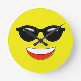 Relógio Redondo Emoji frio