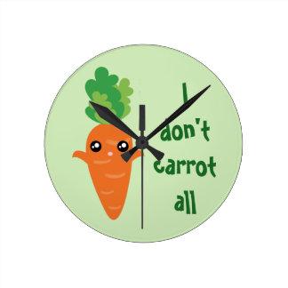 Relógio Redondo Engraçado eu não faço cenoura todos os desenhos