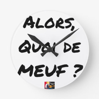Relógio Redondo ENTÃO, QUAL DE MEUF? - Jogos de palavras