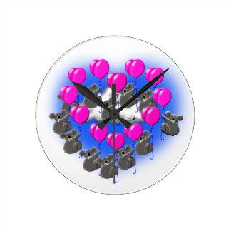 Relógio Redondo equipe da formação do vôo do koala (coração)