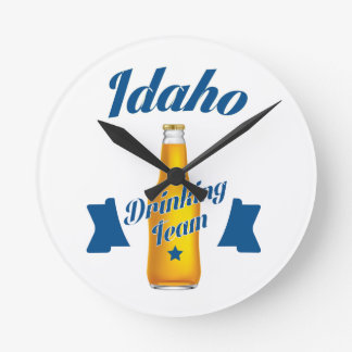 Relógio Redondo Equipe do bebendo de Idaho