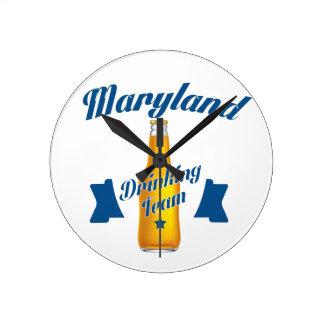 Relógio Redondo Equipe do bebendo de Maryland