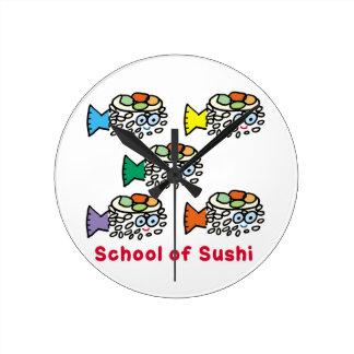 Relógio Redondo Escola do sushi
