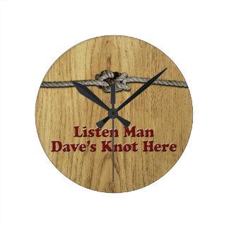 Relógio Redondo Escutam os Multi-Produtos do nó de Dave do homem