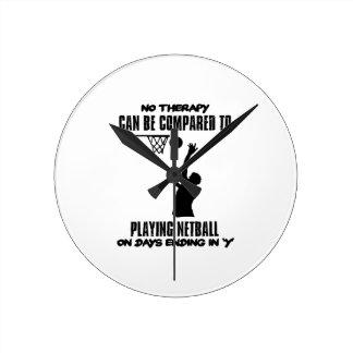 Relógio Redondo esfrie e tendendo o DESIGN do netball