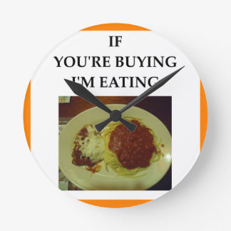 Relógio Redondo espaguetes