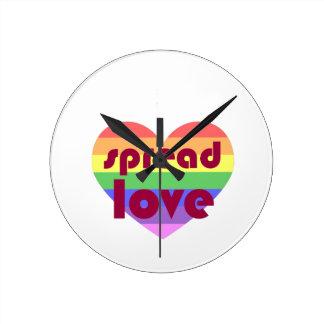 Relógio Redondo Espalhe o amor alegre