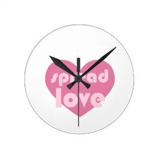 Relógio Redondo Espalhe o amor (geral)
