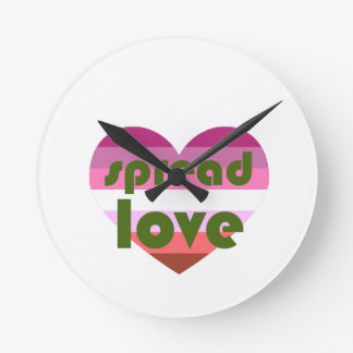 Relógio Redondo Espalhe o amor lésbica
