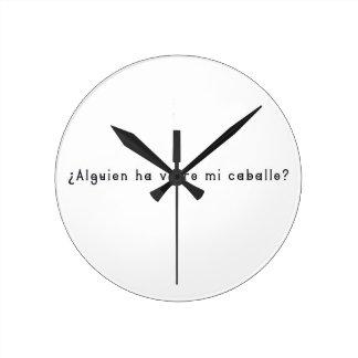 Relógio Redondo Espanhol-Cavalo