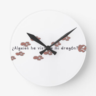 Relógio Redondo Espanhol-Dragão