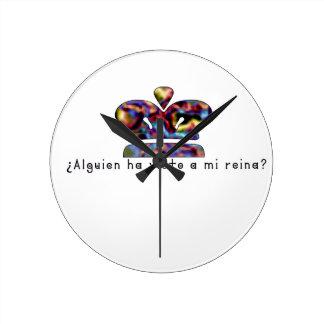 Relógio Redondo Espanhol-Rainha
