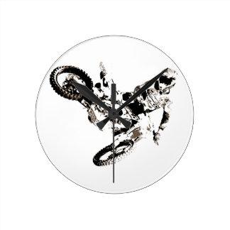 Relógio Redondo Esporte de Motorcyle do motocross do pop art