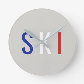 Relógio Redondo Esqui