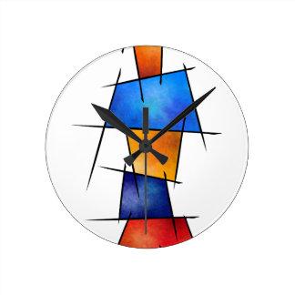 Relógio Redondo Esseniumos V1 - abstrato quadrado sem traseiro