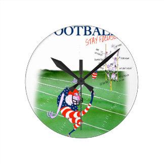 Relógio Redondo Estada focalizada, fernandes tony do futebol