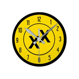 Relógio Redondo Estado de pulso de disparo de parede da Dobro-Cruz