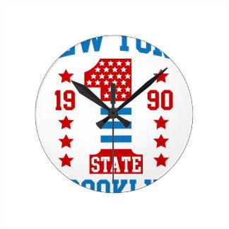 Relógio Redondo Estados de Nova Iorque Brooklyn
